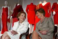 U.S. first ladies' red dresses displayed to fight women's heart disease