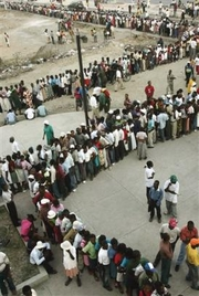 At least four die at packed polling stations in Haiti