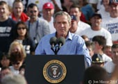 Bush exhorts leaders of nations to stop violence stemming from drawings of Prophet Muhammed