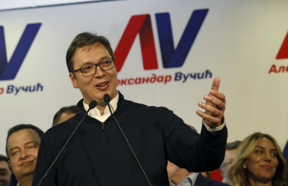 Serbia's newly elected president thanks Putin. 60137.jpeg