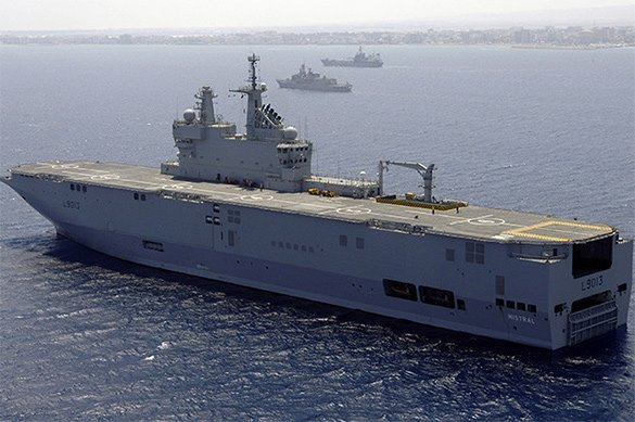 Russia may veto the sale of Mistrals without Russian helicopters. Mistral helicopter carrier