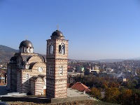 UN mission alllows Serbian Orthodox officials to build protective wall around church