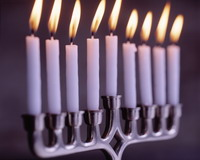 Hanukkah's first candle lit