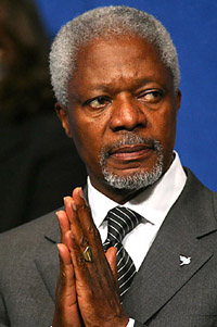 Annan expresses hope for relations with South Korea