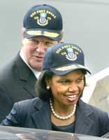 Rice asks Afghan president for