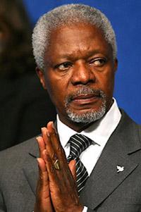 Annan urges Syria determine the border