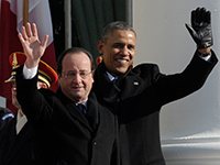 Obama and Hollande hug each other as world's gendarmes. 52147.jpeg