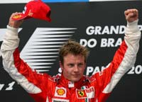 Kimi Raikkonen captures Formula One title