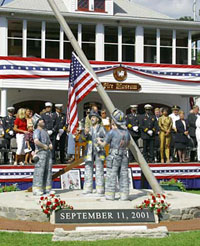 Monument to September 11 firefighters unveiled in US