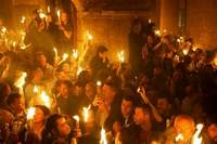 Holy Fire appears in Church of the Holy Sepulcher in Jerusalem