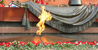 Gay activists lay condoms to eternal flame in Russia. 50156.jpeg