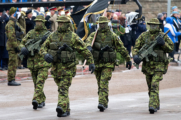Estonia trains partisans for war with Russia. Estonia