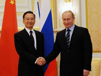 Leaders of Russia and China Say will Work on Financial Crisis