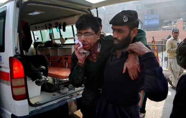 At least 100 children killed in terrorist attack at Peshawar school. Talib fighters attach Peshawar school in Pakistan