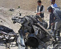 Suicide bomber blows up Afghan bus; 13 people killed