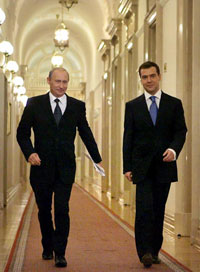 Medvedev and Putin Won't Elbow Each Other in Two Years