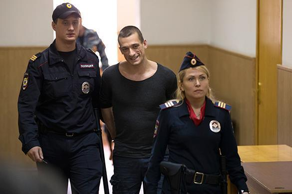 Notorious performance artist Pavlensky sentenced to fine and released. Pyotr Pavlensky
