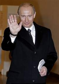 Russia elects its third president