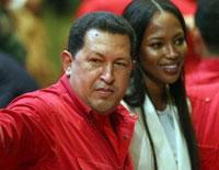 Hugo Chavez ready to pose topless like Putin for Naomi Campbell