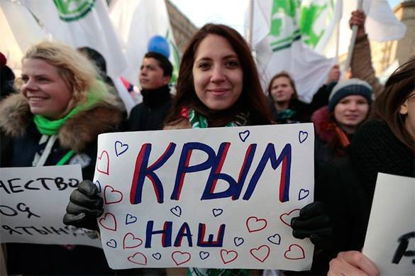 Ukraine's chances to return Crimea are zero. Poster: Crimea is Ours!