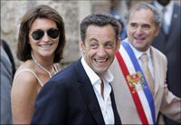French first lady Cecilia Sarkozy seems ill-at-ease with her role