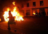 Massive street riots turn Denmark's Copenhagen into wild messy city