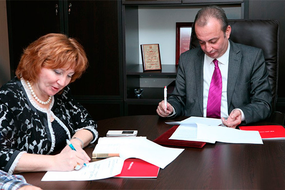 Pravda.Ru signs agreement with largest news agency of Azerbaijan. 59185.jpeg