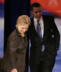Hillary Clinton and Barack Obama criticize Russia's presidential vote