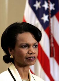 Rice challenges statements by former President Clinton defending his anti-terror record