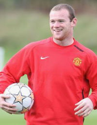 Wayne Rooney,  Striker of Manchester United, Named PFA Player Of The Year