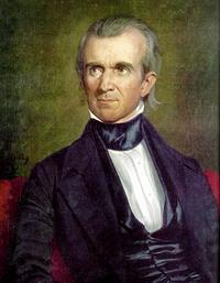 Hooligans spray-paint graffiti on President James K. Polk's home