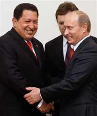 Hugo Chavez arrives in Russia to say hello from Fidel Castro and spend 30 billion dollars