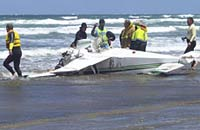 Passenger plane plunged into the sea near Tahiti