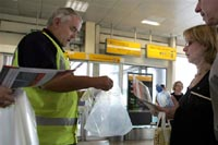 Passengers adjust to new security rules