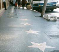 Sixty-one stars from the Hollywood Walk of Fame removed for a new construction project