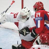Russia beats Denmark at hockey worlds