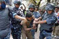 Curfew's protester death toll reaches 14 in Nepal