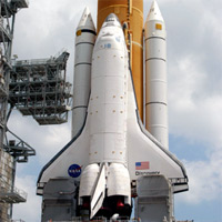 Astronauts arrive in Florida for Thursday evening's launch of space shuttle Discovery