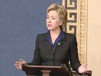 Sen. Clinton criticizes Bush Administration in war of words over fighting al-Qaida