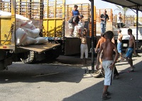 U.N. relief supplies convoy hit in Lebanon refugee camp