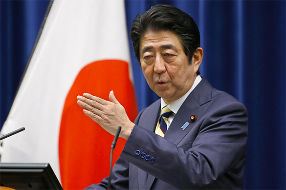 Japanese prime minister says Japan and Russia reached historical agreement. 61215.jpeg