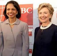 US President 2008: Hillary Clinton or Condoleezza Rice?