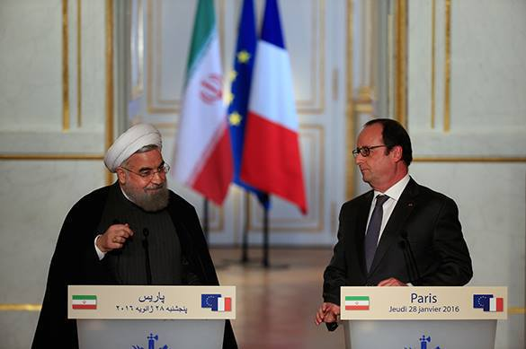 European leader insults Iranian president by pork and wine. France