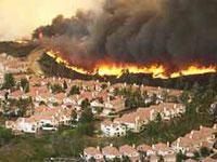 Fires frighten California