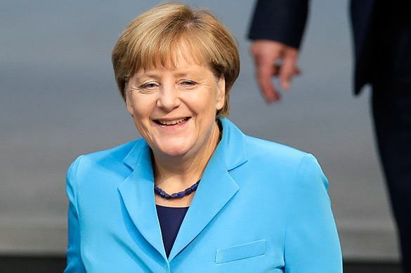 German Chancellor content with Russian cooperation, despite Ukrainian conflict. Merkel