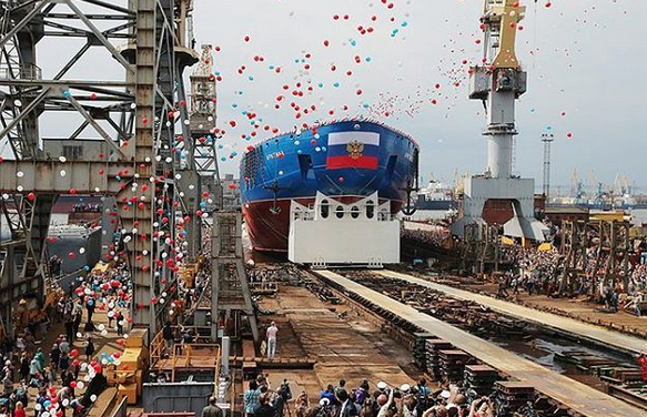 Russia launches world's largest and most powerful icebreaker Arktika. 58219.png