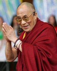 Dalai Lama gives lectures at US university