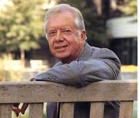 Former US President Carter arrive in Nepal