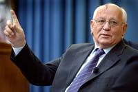 Mikhail Gorbachev strains his leg and cancels trip to Denmark