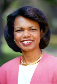 Condoleezza Rice negotiates with Pakistani president